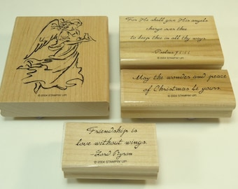 On Angel Wings Stamp Set From Stampin Up Retired Christmas Holiday