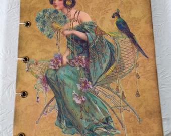 Art Nouveau Lady Journal/Photo Album (Coptic Stitch)