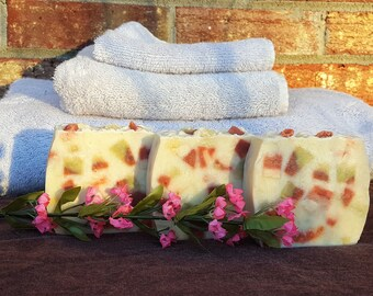 Confetti Natural Body Soap, Natural Skincare, Artisan Soap, Handmade Soap, Essential Oil Soap, Homemade Soap, Rustic Soap, Gift For Her