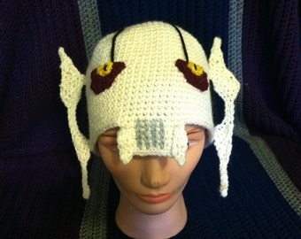 White, General Grievous Beanie, Star Wars - One of a kind cap hat, crochet - Droid