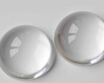 5 pcs High Quality Crystal Glass Magnifying High Dome Polished Edge Round Cabochon 50mm A9057