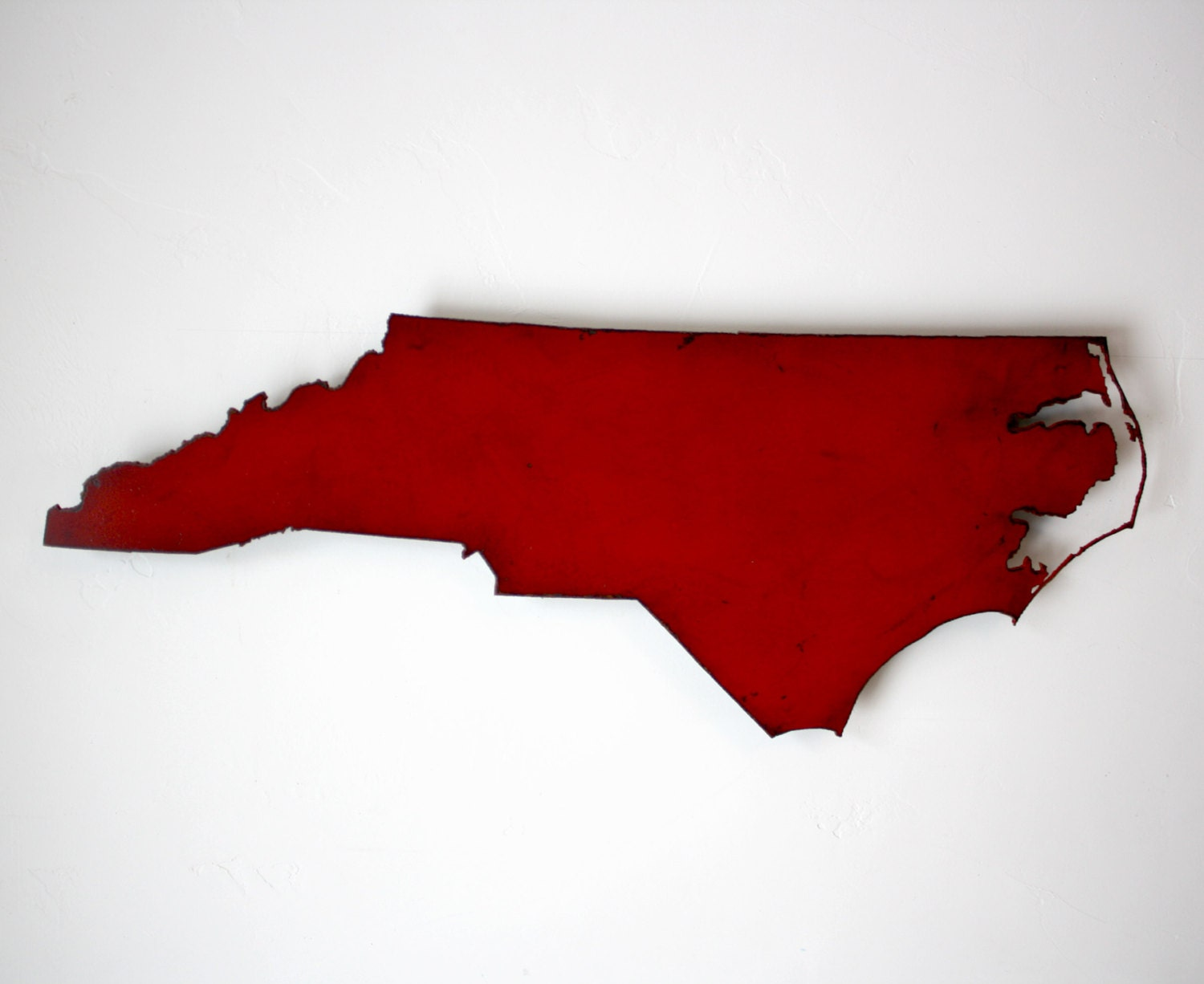 Red Metal Wall Art 24 Wide North Carolina Metal Map Wall Art Choose Your