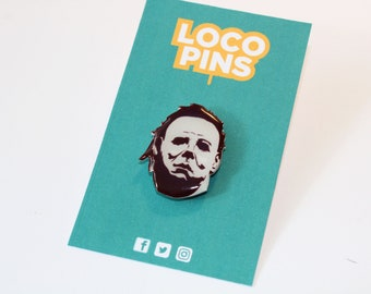 Michael Myers pin - a great gift for fans of Halloween movies, pin collectors, movie fans and horror genre