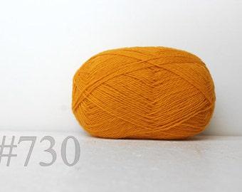 WOOL yarn 100%-knitting yarn - honey yellow #730
