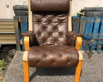 Scandinavian leather armchair