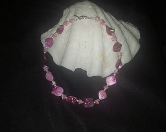 Pink Blister pearl necklace
