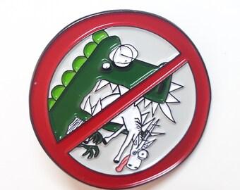 Don't Eat the Unicorns! Enamel Pin