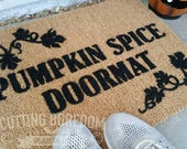 Pumpkin spice funny doormat. A funny gift for the autumn nut in your life, Halloween Decoration, Halloween Ideas