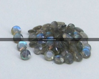 10 pieces 3mm Labradorite faceted round gemstone AAA+ quality Natural Labradorite round faceted loose gemstone blue flash Labradorite stone