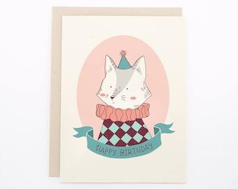 Birthday Card - Circus Cat