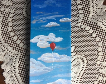 Red Balloon painting