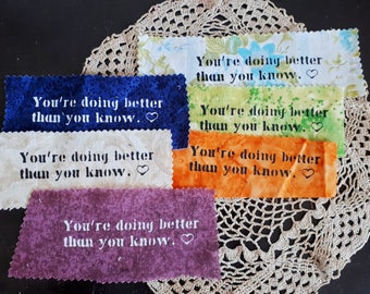 You're doing better: screen printed patch