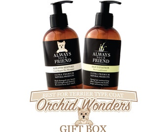 Orchid Wonders, Shampoo, Conditioner & two travel size shampoos.