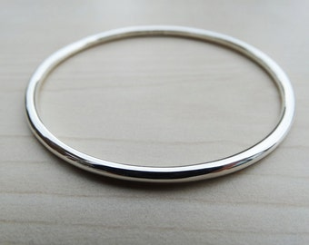 Solid Silver Bangle, Sterling Silver