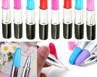 Lipsick Pens, Novelty Lipstick Pens, Makeup Pens, Novelty Pens, Office Supplies, Ballpoint Pens, Funny Pens, Womans Pens, Cute Lipstick Pens