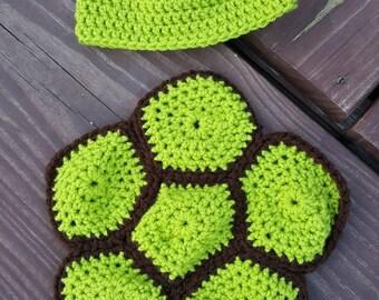 Crochet Newborn Turtle Prop