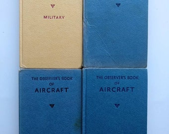 Observer's books: Aircraft. Cloth bound decorative reference books, small vintage books