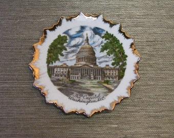 """Vintage Souvenir Plate The Capitol WASHINGTON DC Japan, Small 5"""""""