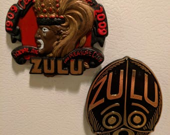 Mardi Gras Zulu Throw Magnet Set - Krewe of Zulu