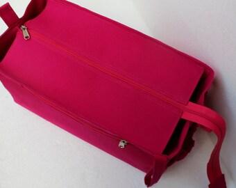 Purse organizer for Louis Vuitton Neverfull MM with Zipper closure- Bag organizer insert in Pink