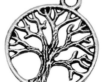 Tree of life charms zinc pewter