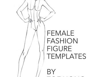 Female FASHION FIGURE TEMPLATES