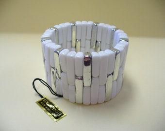 Vintage Lucite Plastic Stretch Bracelet DEADSTOCK