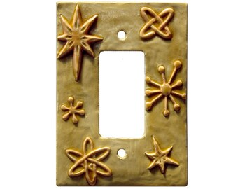 Atomic Design Ceramic Single Rocker Light Switch Plate