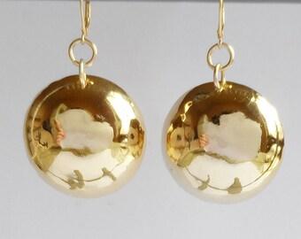 Gold balls earrings