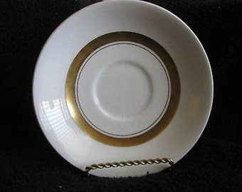 WH Grindley & Co England Satin White Saucer CL15-9
