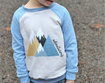 Adventure Sweater, Graphic Tee, Mountain Sweater, Mountains Outfit, Adventure Baby, Baby Outfit, Baby Sweater, Toddler Sweater, Baby Gift
