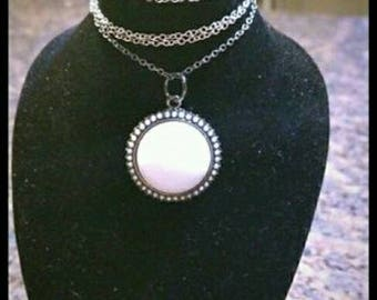 White Spherical Pendant Necklace