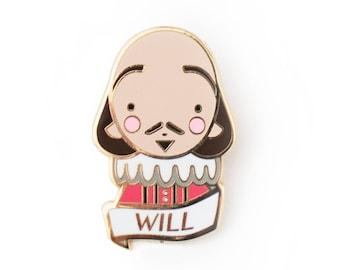 William Shakespeare Pin Brooch