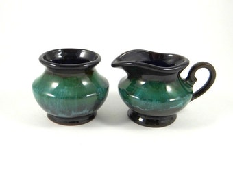 Vintage Blue Mountain Pottery Sugar and Creamer Set