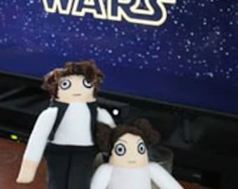 Han Solo and Leia Plush Dolls