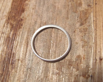 MATTE Silver Link, Circle Link Connector, .925 Sterling Silver Charm, 15mm Simple Elegant Charm, Jewelry Supplies (CH 2405)
