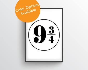 Platform 9 3 4 Print, Harry Potter Platform 9 3/4 print, Harry Potter Print, Hogwarts Express Print, Digital File, Instant Download