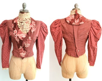 Reproduction Victorian Bodice / Victorian Blouse / Steampunk Bodice / Downton Abbey / Victorian Costume / Steampunk Clothing