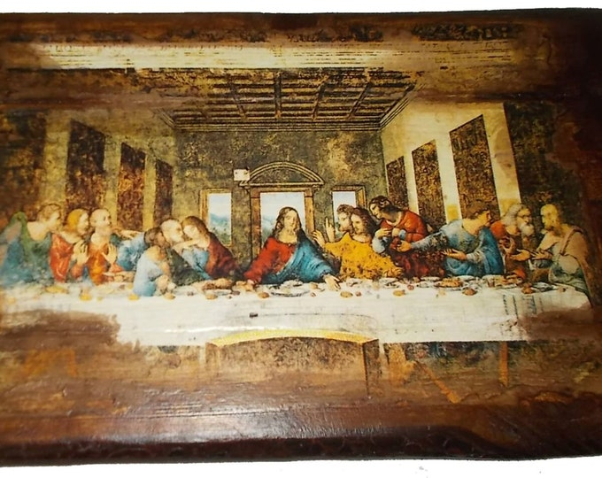 Decoupage christian orthodox,Custom made Orthodox icon,Secret Dinner ,Religious icon,Vintage Orthodox icon of Secret Dinner ,Byzantine icon