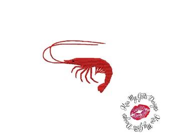 Shrimp Fill Stitch  Machine Embroidery Design
