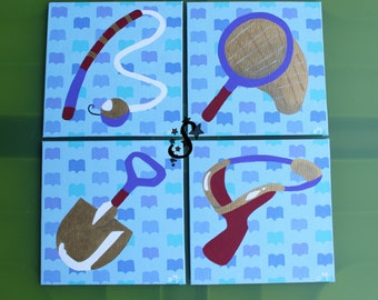 Tools of the Trade- Animal Crossing Painting Canvas Set