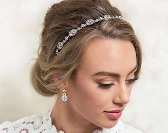 Bridal Headpiece Crystal Bridal Headband Wedding Accessories Bridal Hair Accessories Bohemian Headpiece Crystal Headpiece Bridal Hair H206