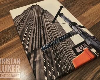 Rockefeller Center, New York Wrap Around Canvas Print - Tristan Luker Photography