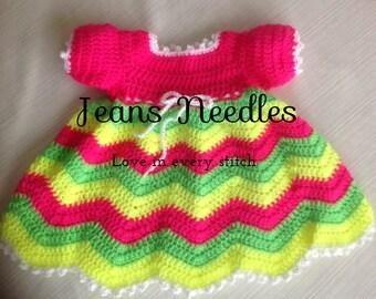 Newborn Crochet baby Dress JENNIFER PATTERN