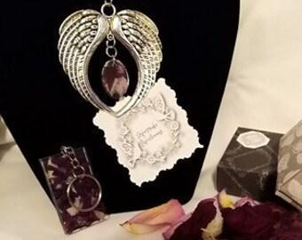 Memorial flower bead funeral flowers key chain
