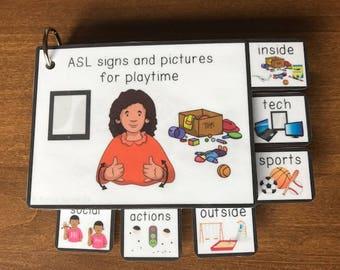 ASL (Sign Language) Playtime Visual Flashcard Dictionary