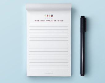 Funny Notepad   Wine Notepad   Shopping List Notepad   Grocery List Notepad   Notepad   4x6 Notepad   50 Page Notepad