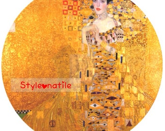 "Lovely Gustav Klimt Adele Bloch Bauer Lady 9""/23cm design  23cm or 9"" round placemat table mat server centrepiece"