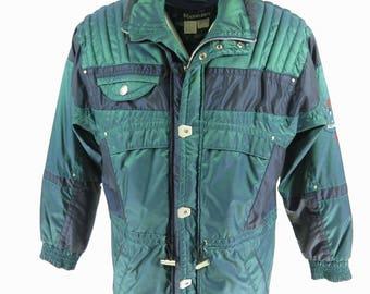 91e5d62e176 Vintage 80s Kaelin Iridescent Ski Jacket Mens L Snowboard Puffy Retro Blue  Green  H14V 2-10 Puffy