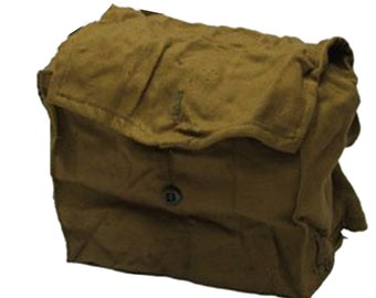 Vintage Army Surplus Russian WW2 Multi Pocket Haversack Bag Case GP5 PDFD Red Army Gas Mask Sack